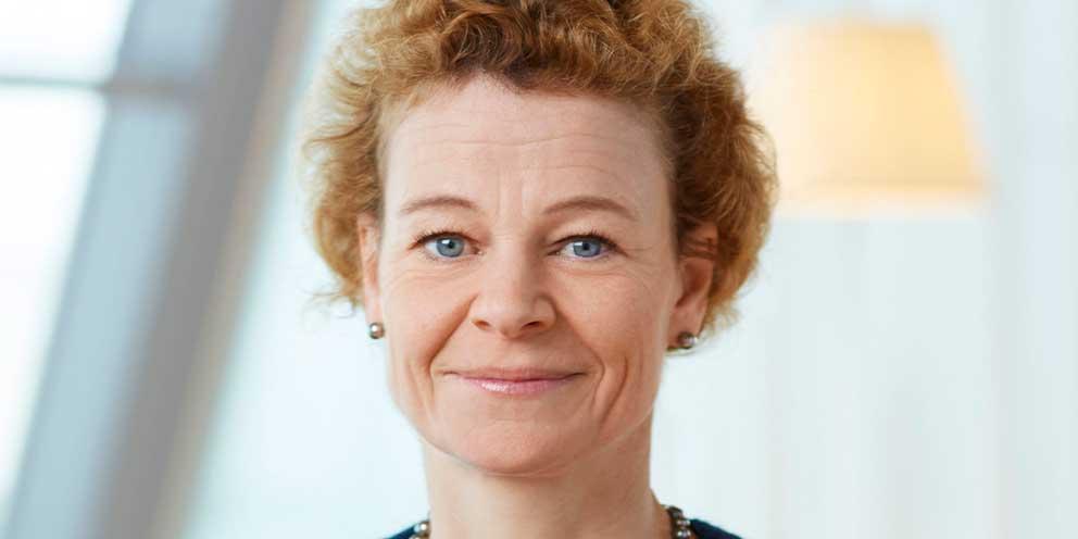 Annemarie Gardshol, chef för Postnord.